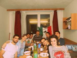 Dinner with Erasmus friends